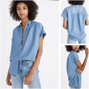 Madewell Central Drapey Chambray top